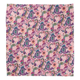 Pretty Pink Paisley Pattern Bandana