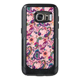 Pretty Pink Paisley Pattern OtterBox Samsung Galaxy S7 Case