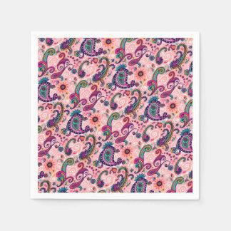 Pretty Pink Paisley Pattern Paper Napkins