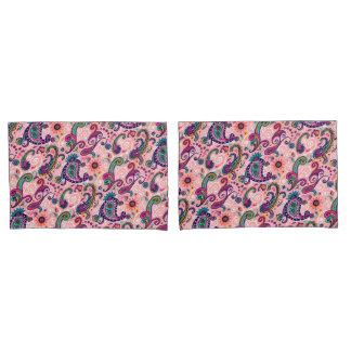 Pretty Pink Paisley Pattern Pillowcase
