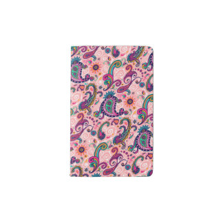 Pretty Pink Paisley Pattern Pocket Moleskine Notebook