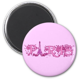 Pretty Pink Paris Products 6 Cm Round Magnet