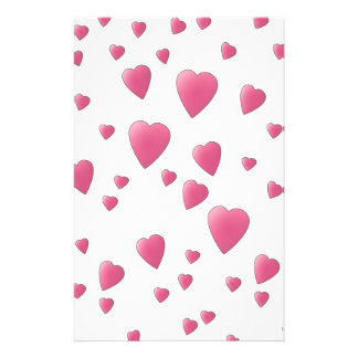 Pretty Pink Pattern of Love Hearts. 14 Cm X 21.5 Cm Flyer