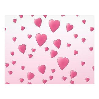 Pretty Pink Pattern of Love Hearts. Custom Flyer