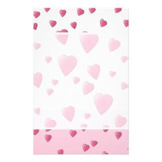 Pretty Pink Pattern of Love Hearts. Flyers