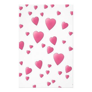 Pretty Pink Pattern of Love Hearts. 14 Cm X 21.5 Cm Flyer