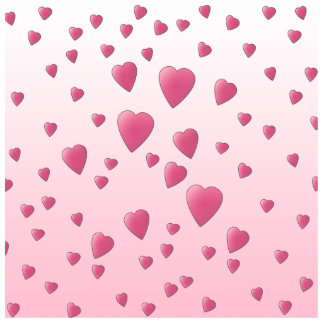 Pretty Pink Pattern of Love Hearts. Standing Photo Sculpture