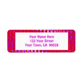 pretty pink pattern return address label