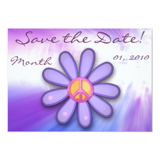 Pretty Pink Peace Sign Announcemets Custom Invitations