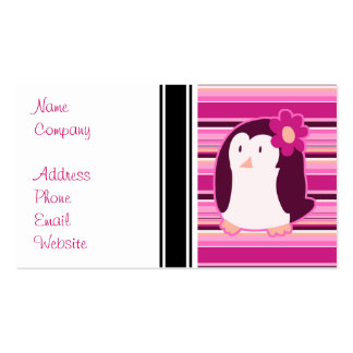 Pretty Pink Penguin Pack Of Standard Business Cards