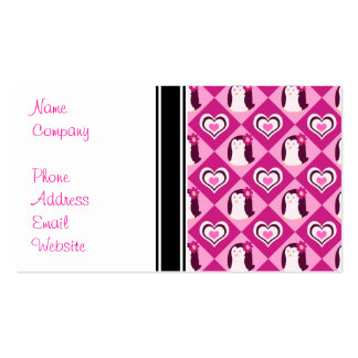 Pretty Pink Penguin Pattern Pack Of Standard Business Cards