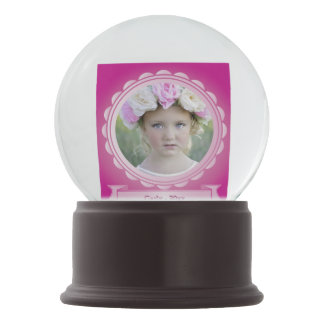 Pretty Pink Photo Picture Frame Snow Globes