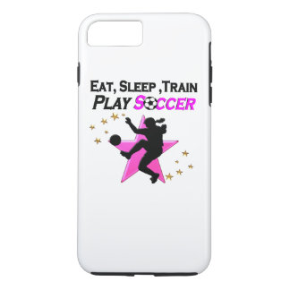 PRETTY PINK PLAYING SOCCER DESIGN iPhone 7 PLUS CASE