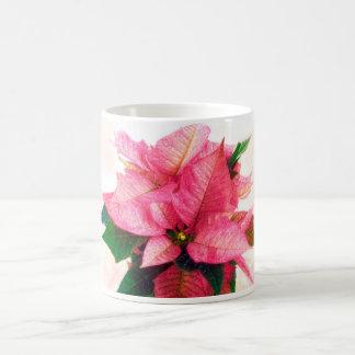Pretty Pink Poinsettia Mug