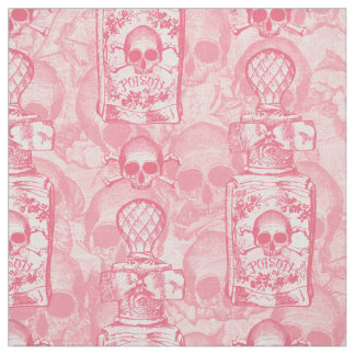 Pretty Pink Poison Bottle Fabric