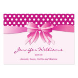 Pretty Pink Polka Dots and Bow Mummy Calling Cards Pack Of Chubby Business Cards