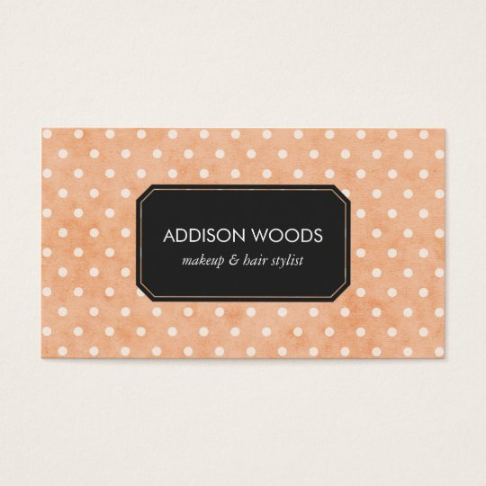 Pretty Pink Polka Dots Professional Business Card
