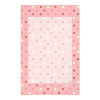 Pretty Pink Polka Dots Customized Stationery