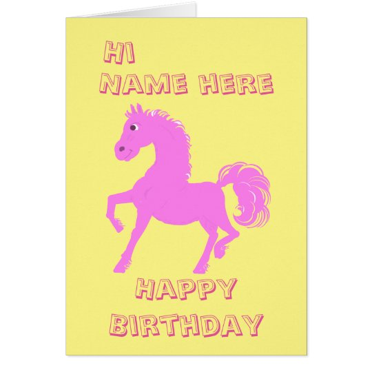 Pretty Pink Pony, Girls birthday Card