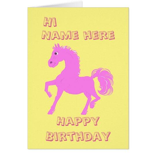 Pretty Pink Pony, Girls birthday Card