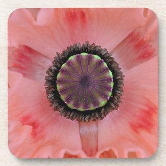Pretty Pink Poppy Coaster