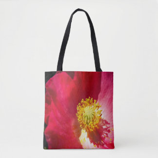 Pretty Pink Poppy Flower Tote Bag