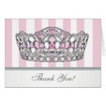 Pretty Pink Princess Thank You Card