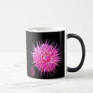 Pretty pink puff flower 11 oz magic heat Color-Changing coffee mug