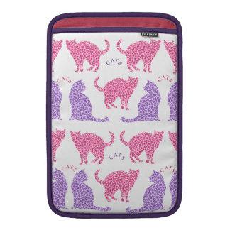 Pretty Pink Purple Cat Lovers Design Sleeve For MacBook Air