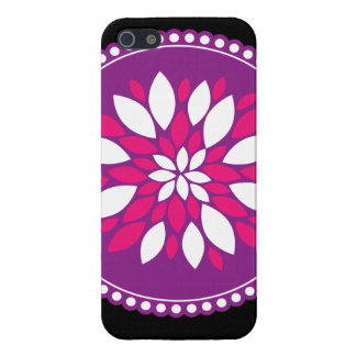 Pretty Pink Purple White Flower Petals Mandala iPhone 5/5S Cases