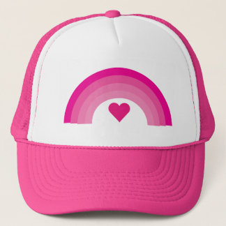 Pretty pink rainbow & heart cap