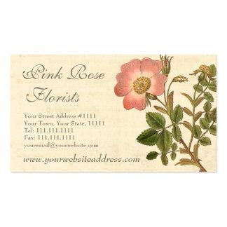 Pretty Pink Rose Feminine Garden Business Card Template