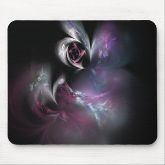 Pretty Pink Rose Fractal Mouse Pad