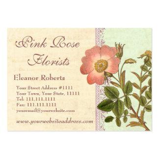 Pretty Pink Rose Garden Florist Business Card