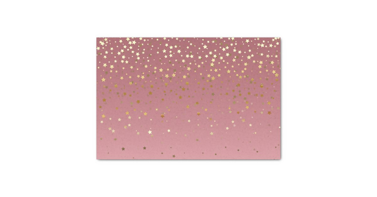 Pretty pink rose gold background and glitter stars tissue - Rose gold sparkle background ...