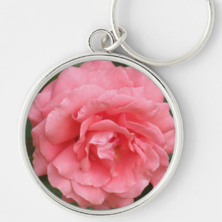 Pretty Pink Rose Key Ring
