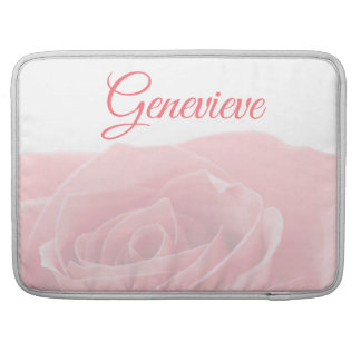 Pretty Pink Rose Personalized with Name Sleeve