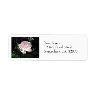Pretty Pink Rose Return Address Label