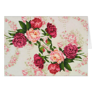 Pretty Pink Roses Large Font Birthday Card