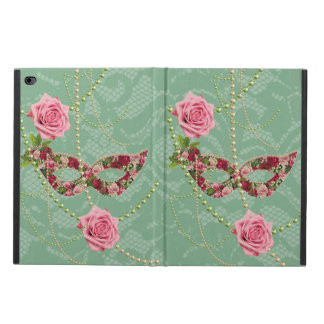 Pretty Pink Roses Masquerade & Pearls Soft Green