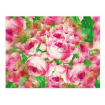 Pretty Pink Roses Postcard