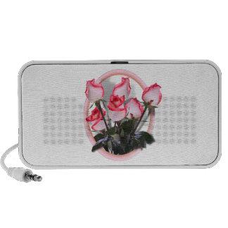 Pretty  Pink Roses Notebook Speaker