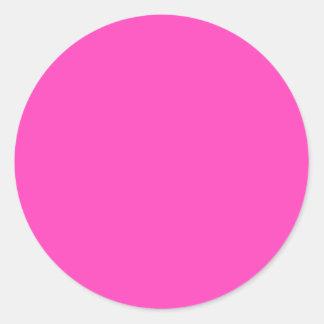 Pretty Pink Round Stickers