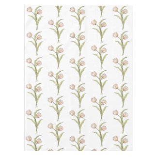 Pretty Pink Spring Tulip Pattern Tablecloth