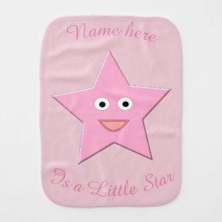 Pretty Pink Star Custom Burp Cloth
