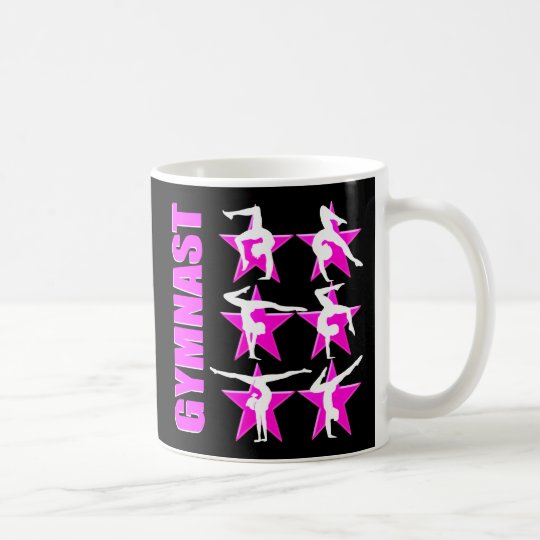 PRETTY PINK STAR GYMNAST COFFEE MUG
