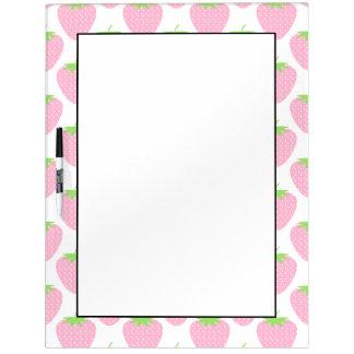 Pretty Pink Strawberry Pattern. Dry Erase Board