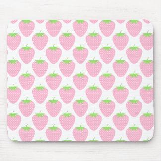 Pretty Pink Strawberry Pattern. Mouse Pads