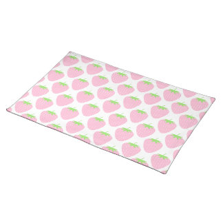Pretty Pink Strawberry Pattern. Placemat