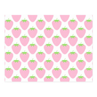 Pretty Pink Strawberry Pattern. Post Cards